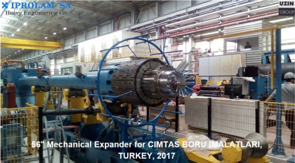 56'' Mechanical Expander for CIMTAS BORU IMALATLARI, TURKEY, 2017