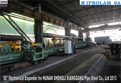 "Mechanical pipes expander for 56""  //HUNAN SHENGLI XIANGGANG Pipe Steel Co. Ltd"