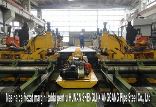Sheet edge milling machine //HUNAN SHENGLI XIANGGANG Pipe Steel Co. Ltd