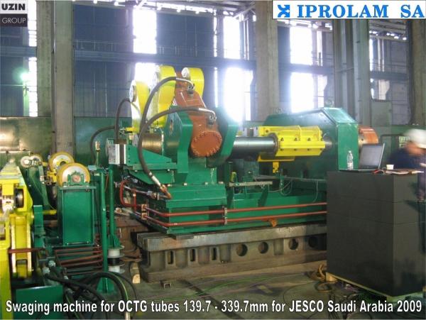 Swaging machines for OCTG tubes// JESCO SAUDI ARABIA