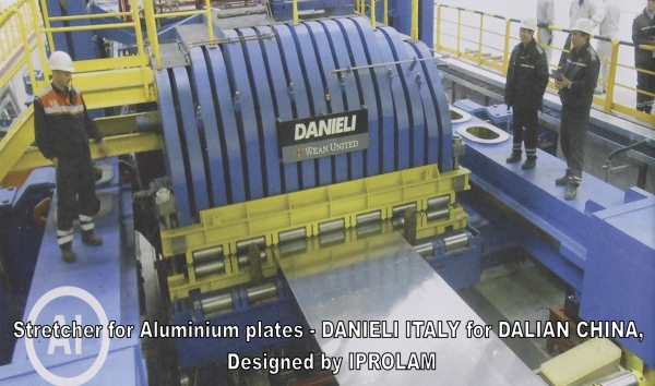 Stretcher for Aluminium plates // DANIELI ITALY for DALIAN CHINA, Designed by IPROLAM