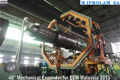 "Mechanical pipes expander for 48"" //EEW Malaysia"
