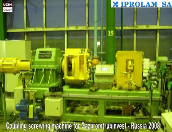"Coupling screwing machine range 2 3/8"" – 6 5/8""//Sytco-GAZPROMTRUBINVEST Rusia"